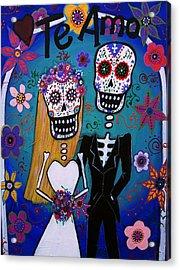 Te Amo Wedding Dia De Los Muertos Acrylic Print