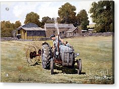 Te20-fergy In The Fields Acrylic Print by Anthony Forster