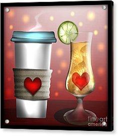Tea And Coffee Acrylic Print