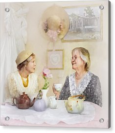 Tea And Talk Acrylic Print