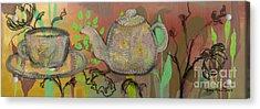 Tea Blossoms Acrylic Print by Robin Maria Pedrero