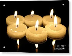 Tea Candles Acrylic Print