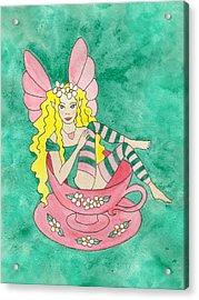 Tea Cup Fairy Acrylic Print