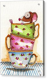 Tea For One Acrylic Print by Lucia Stewart