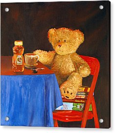 Acrylic Print featuring the painting Tea For Teddy by Rick Fitzsimons