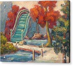 Tea Garden Bridge Acrylic Print