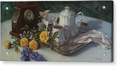 Tea In The Garden Acrylic Print