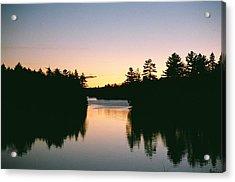 Acrylic Print featuring the photograph Tea Lake Sunset by David Porteus