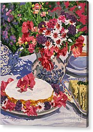 Tea Party Acrylic Print by David Lloyd Glover