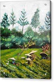 Tea Plantation In Indonesia Acrylic Print