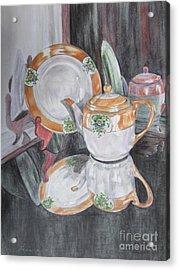 Tea Pot Acrylic Print by Laurianna Taylor