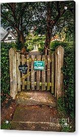 Tea Room Gate Acrylic Print