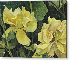 Acrylic Print featuring the painting Tea Rose by Natasha Denger