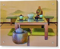 Tea Setting Acrylic Print by Joseph Hollingsworth
