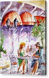 Acrylic Print featuring the painting Tea Time...  by Faruk Koksal