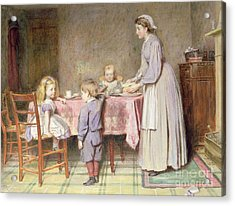 Tea Time Acrylic Print by George Goodwin Kilburne
