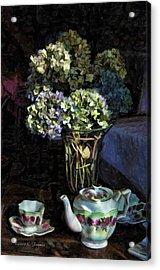 Tea Time Acrylic Print by Kenny Francis