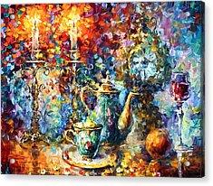 Tea Time Acrylic Print by Leonid Afremov