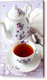 Tea Time With Bible Acrylic Print