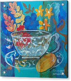 Tea With Biscuit Acrylic Print by Robin Maria Pedrero