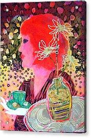 Teabag Acrylic Print by Diane Fine