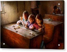 Teacher - Classroom - Education Can Be Fun  Acrylic Print by Mike Savad