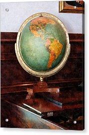 Teacher - Globe On Piano Acrylic Print by Susan Savad