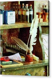 Teacher - School Supplies In General Store Acrylic Print by Susan Savad