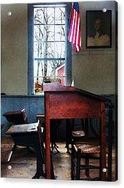 Teacher - Schoolmaster's Desk Acrylic Print by Susan Savad