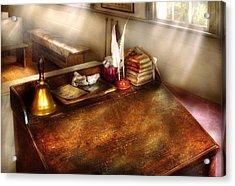 Teacher - The School Room Acrylic Print by Mike Savad