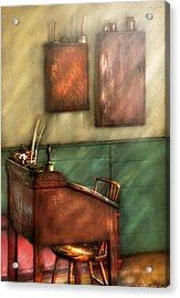 Teacher - The Teachers Desk Acrylic Print by Mike Savad