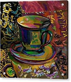 Acrylic Print featuring the digital art Teacup Study 1 by Clyde Semler