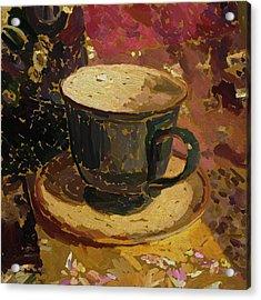 Acrylic Print featuring the digital art Teacup Study 2 by Clyde Semler