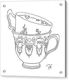 Teacup Love Acrylic Print