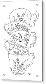 Teacup Tremble Acrylic Print