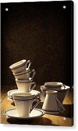 Teacups Acrylic Print by Amanda Elwell