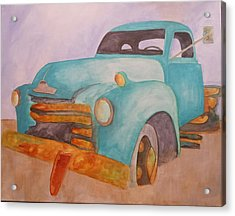 Teal Chevy Acrylic Print