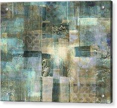 Teal Luminous Layers Acrylic Print by Lee Ann Asch
