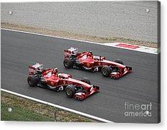 Team Ferrari Acrylic Print