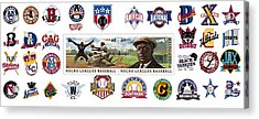 Teams Of The Negro Leagues Acrylic Print by Mike Baltzgar