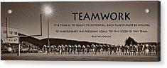 Teamwork Acrylic Print by Lori Deiter