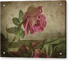 Tear Of Rose Acrylic Print