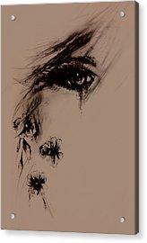 Tear Acrylic Print by Rachel Christine Nowicki
