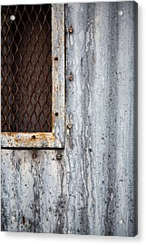 Tears On Steel Acrylic Print by Peter Tellone
