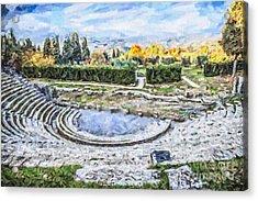 Teatro Romano Fiesole Tuscany Acrylic Print