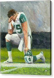 Tebowing Acrylic Print by Joe Maracic