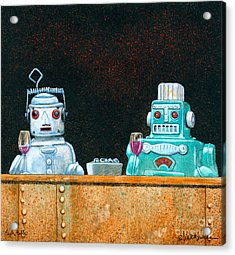 Tech Talk... Acrylic Print by Will Bullas