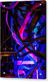 Technology Acrylic Print by Mike Lee