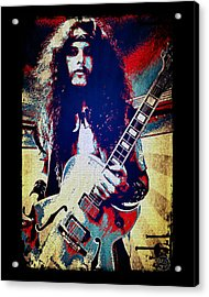 Ted Nugent - Red White And Blue Acrylic Print