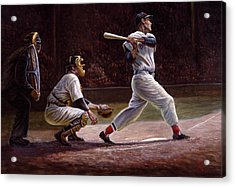 Ted Williams At Bat Acrylic Print by Gregory Perillo